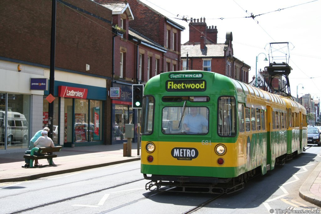 Picture of Blackpool Tramway tram 681 at Lord Street ...