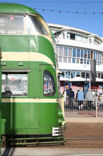 Blackpool Tramway tram 700 at Pleasure Beach