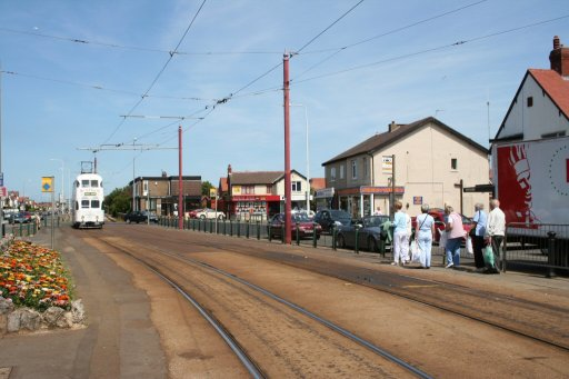 Blackpool Tramway tram stop at Cleveleys
