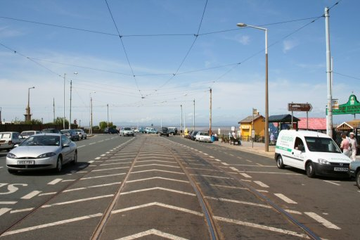 Blackpool Tramway tram stop at Fleetwood Ferry