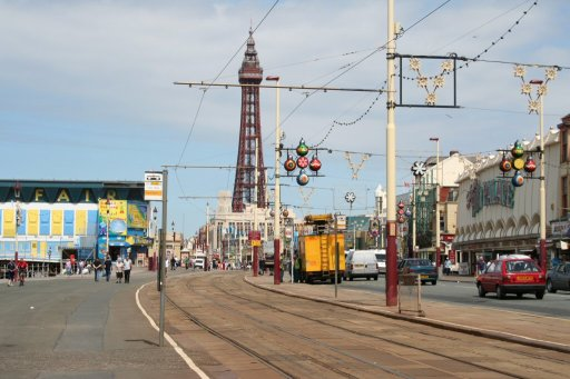 Blackpool Tramway tram stop at Foxhall Square