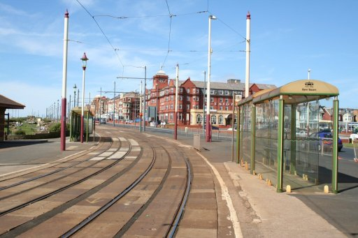 Blackpool Tramway tram stop at Gynn Square