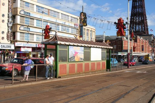Blackpool Tramway tram stop at North Pier
