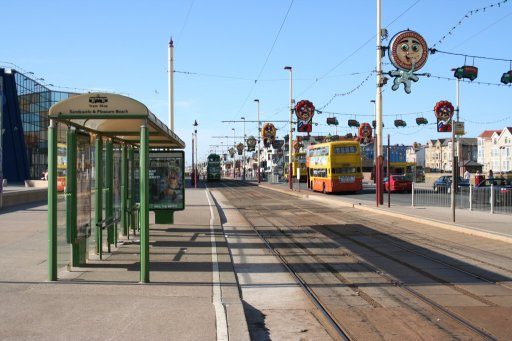 Blackpool Tramway tram stop at Pleasure Beach