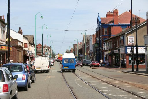 Blackpool Tramway route at Lord Street, Fleetwood