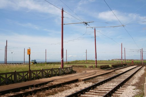 Blackpool Tramway route at Little Bispham