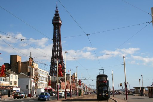 Blackpool Tramway route
