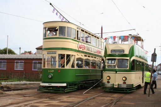 Blackpool Tramway tram 147 at Thornton Gate