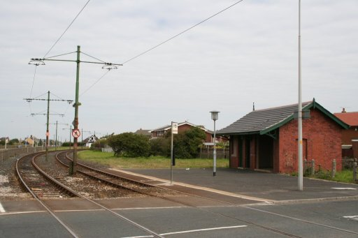 Blackpool Tramway tram stop at Rossall School