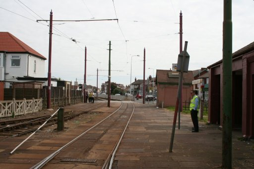Blackpool Tramway tram stop at Thornton Gate