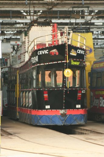 Blackpool Tramway tram 633 at Rigby Road depot