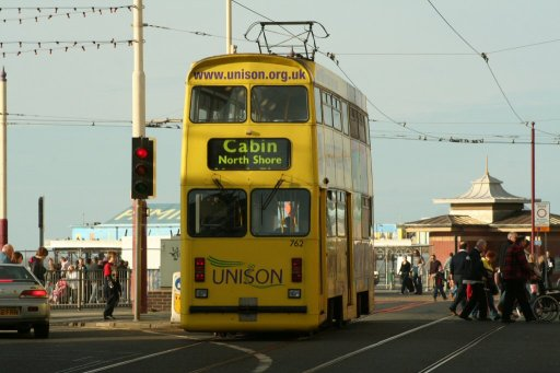 Blackpool Tramway tram 762 at Manchester Square