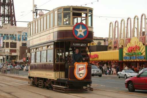 Blackpool Tramway tram 66 at Tower