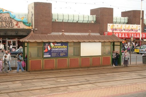 Blackpool Tramway tram stop at Tower