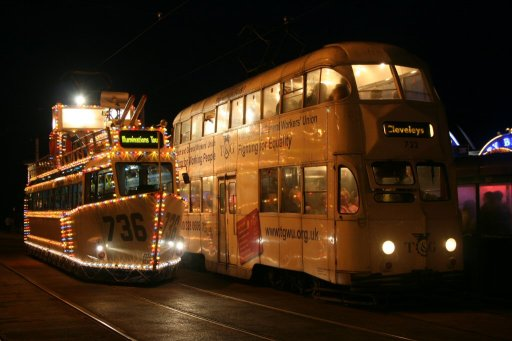 Blackpool Tramway tram illuminations at North Pier