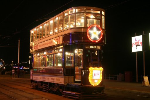 Blackpool Tramway tram 66 at North Pier stop