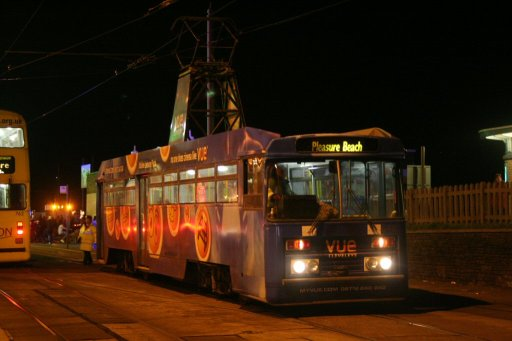 Blackpool Tramway tram 648 at Bispham stop