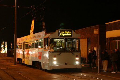 Blackpool Tramway tram 641 at Bispham station