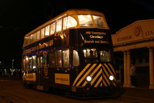 Blackpool Tramway tram 726 at Bispham stop