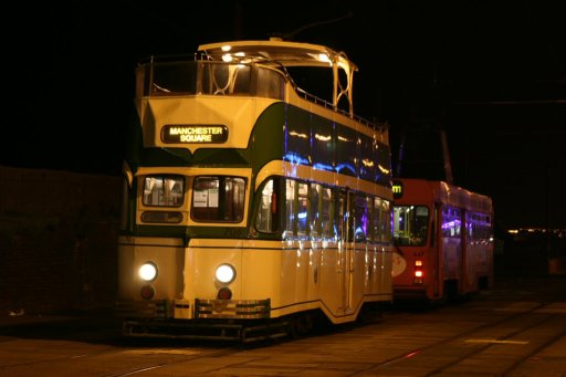 Blackpool Tramway tram 706 at Bispham stop