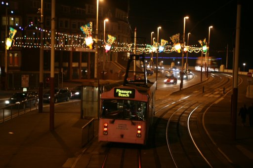 Blackpool Tramway tram 641 at Gynn Square stop