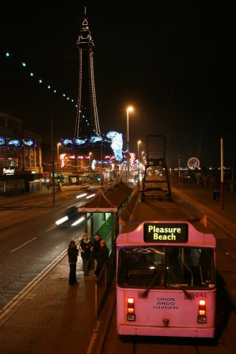 Blackpool Tramway tram 641 at North Pier stop
