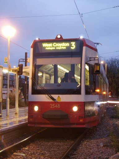 Croydon Tramlink tram 2548 at New Addington stop