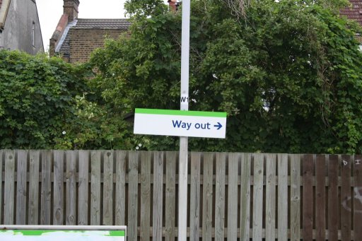 Croydon Tramlink sign at Avenue Road stop