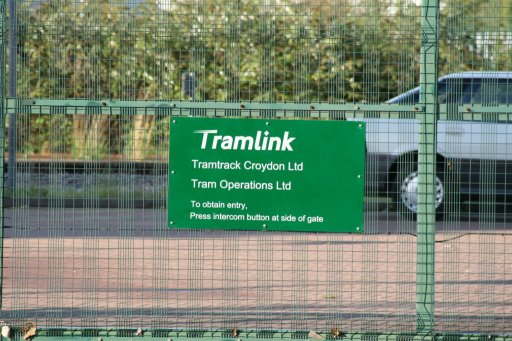 Croydon Tramlink Therapia Lane depot