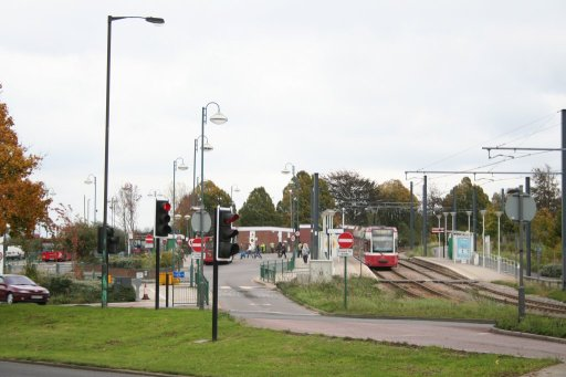 Croydon Tramlink tram stop at Addington Village