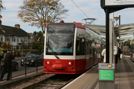 Croydon Tramlink tram sjp at Beckenham Junction stop