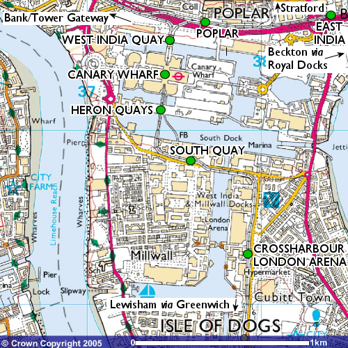 Isle Of Dogs Map TheTrams.co.uk: Docklands Light Railway   Isle of Dogs map Isle Of Dogs Map
