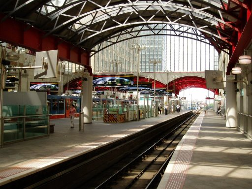 Docklands Light Railway station at Canary Wharf