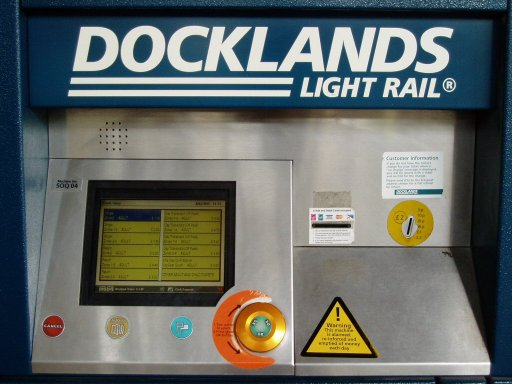 Docklands Light Railway station at stops