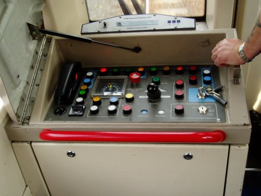 Docklands Light Railway unit driving controls at