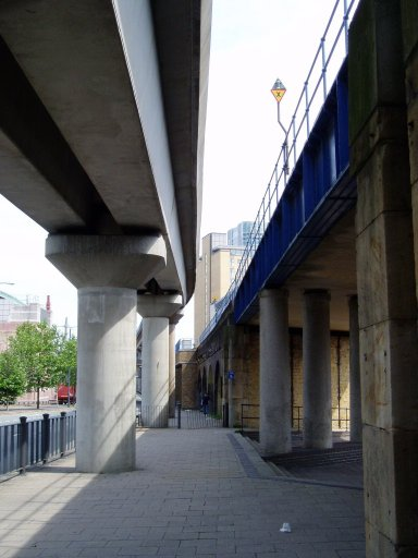 Docklands Light Railway Bank route at near Westferry