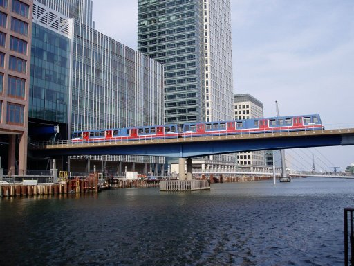 Docklands Light Railway Lewisham route at West India Docks