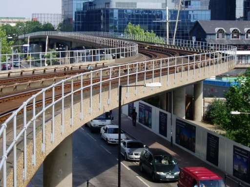 Docklands Light Railway Lewisham route at South Quay
