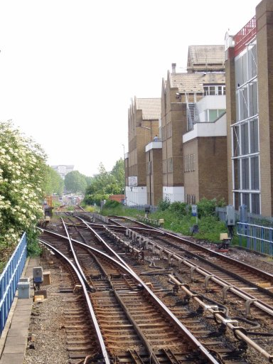 Docklands Light Railway Lewisham route at Crossharbour