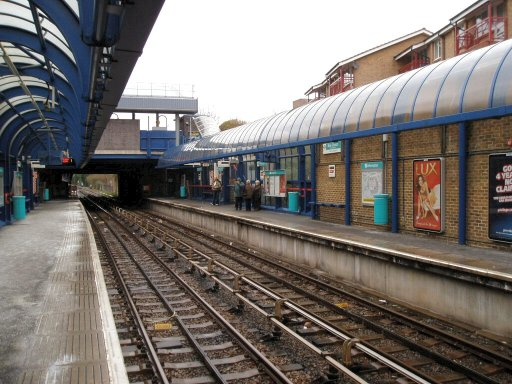 Docklands Light Railway station at Bow Church