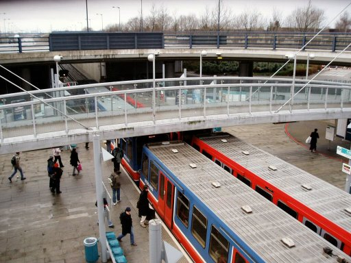 Docklands Light Railway station at Cyprus