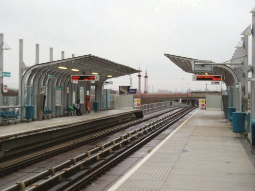 Docklands Light Railway station at Gallions Reach