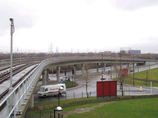 Docklands Light Railway Beckton route at Royal Albert