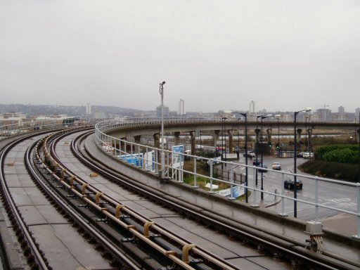 Docklands Light Railway Beckton route at Gallions Reach
