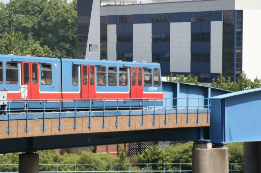 Docklands Light Railway unit 59 at North Quay junction