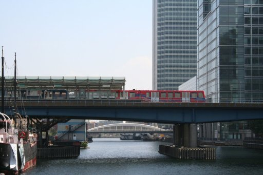 Docklands Light Railway Isle Of Dogs at West India Dock