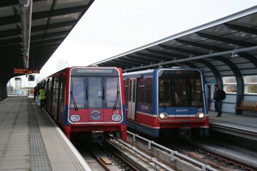 Docklands Light Railway unit 24 at West Silvertown station