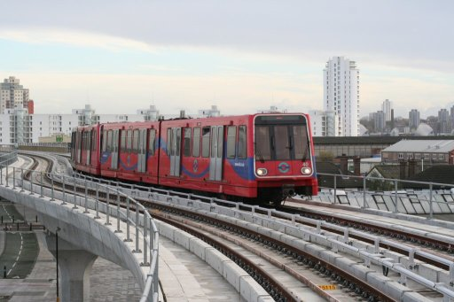 Docklands Light Railway unit 40 at West Silvertown