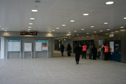 Docklands Light Railway station at London City Airport