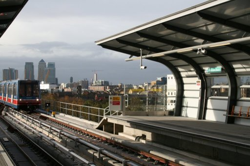Docklands Light Railway station at Pontoon Dock